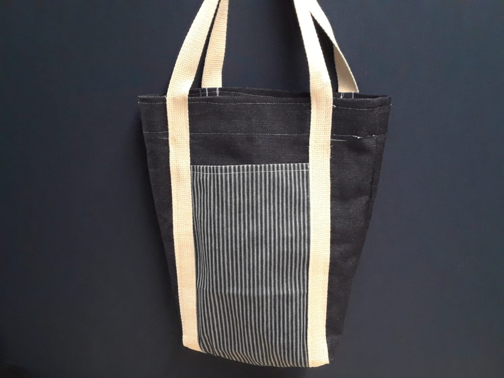 Tote Bag with Pocket Sewed by Me and Timothy Westbrook