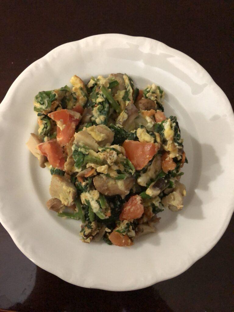 Veggie and Mushroom Scramble