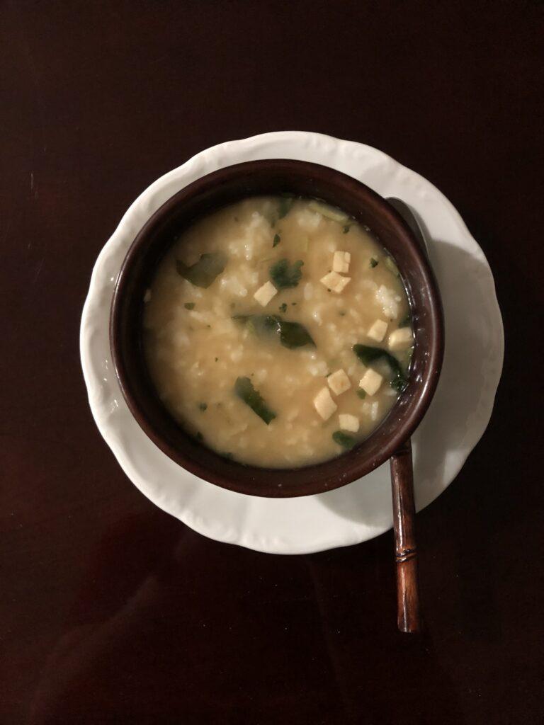 Misoshiru (White Rice in Miso Soup)
