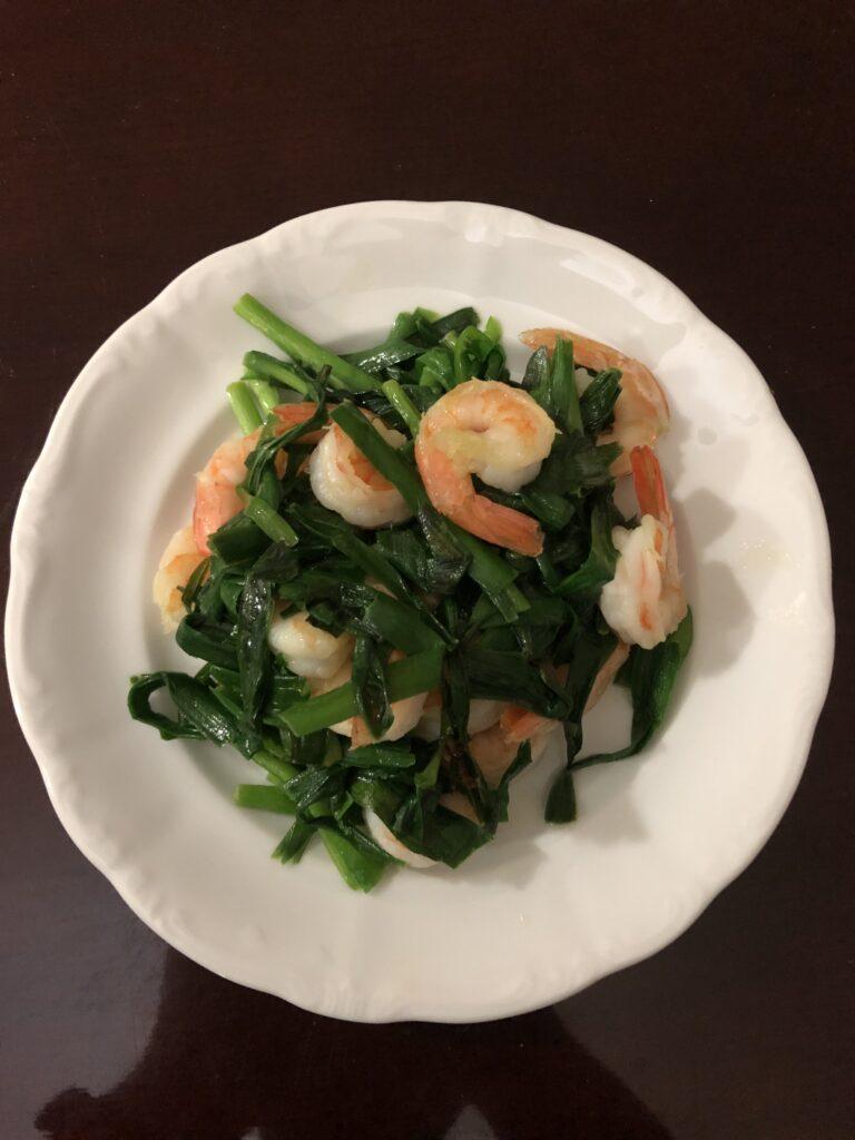 Shrimp and Nira (Chinese Chives)